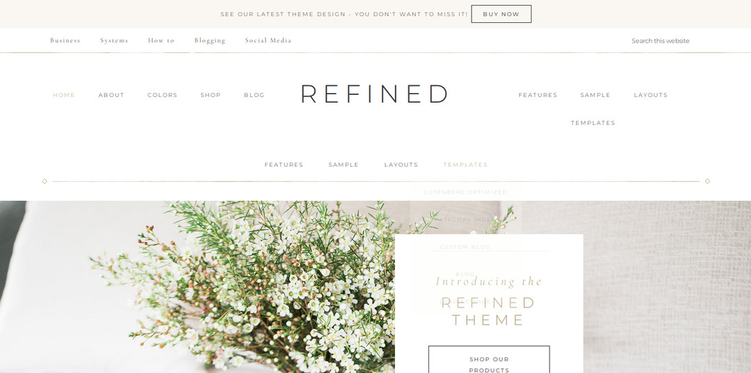 StudioPress refined Pro theme review: header